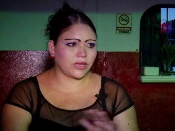 Una de las mujeres que ejerce la prostitución en Tapachula
