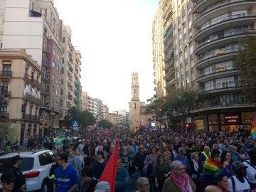 Manifestación antifascista en Valencia