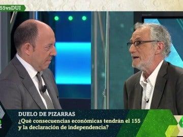 Los economistas Jordi Angusto y Gonzalo Bernardos