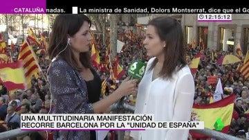 """Manifestante en la marcha de Barcelona: """"La democracia tiene que ser conquistada cada día"""""""