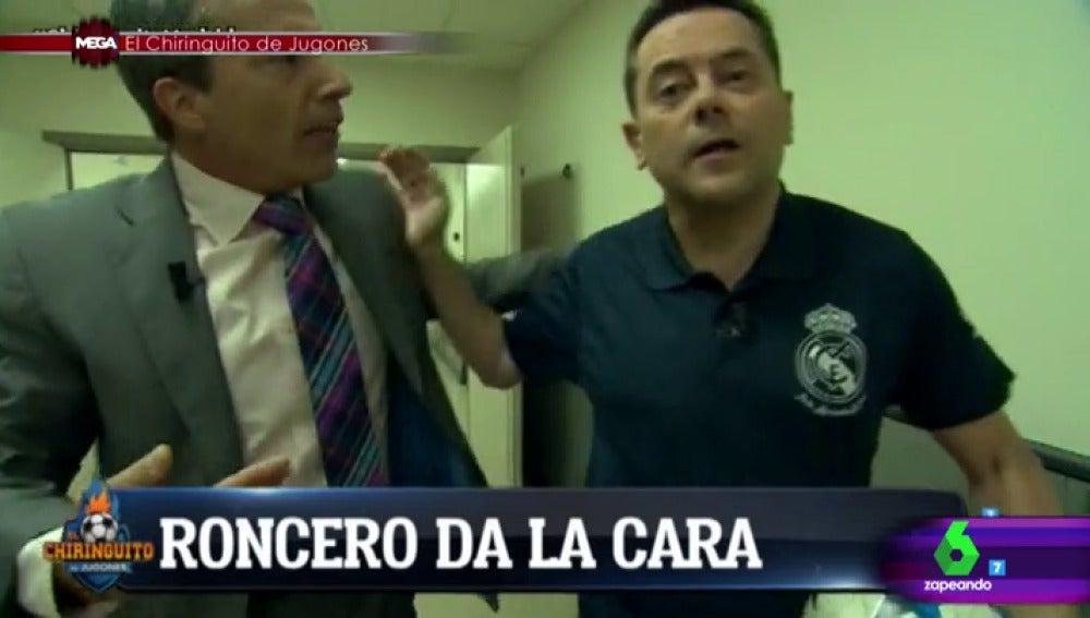 Cristóbal Soria con Tomás Roncero
