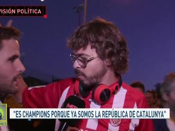 Un aficionado del Girona tras el partido ante el Real Madrid