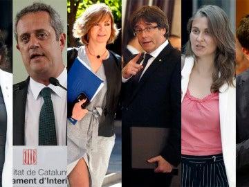 Puigdemont y los consellers del Govern que piden asilo político en Bélgica