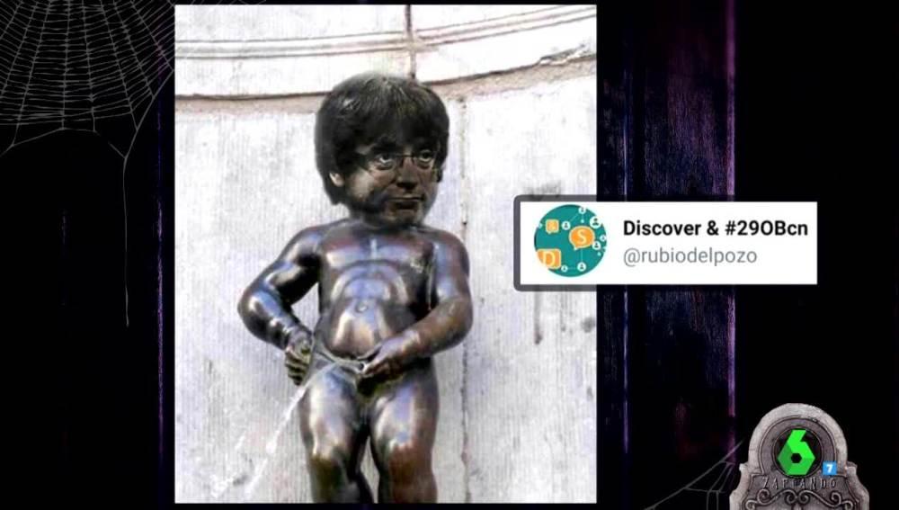 El meme de Puigdemont que más triunfa en las redes sociales