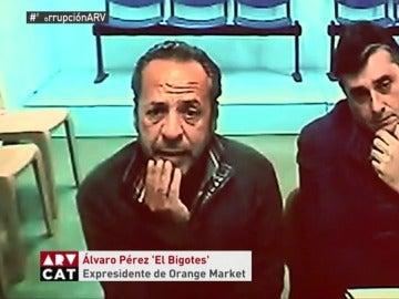 Álvaro Pérez El Bigotes durante el juicio de Gürtel