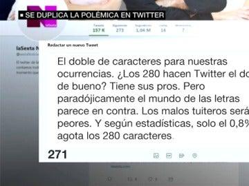 Polémica en Twitter por los 280 caracteres