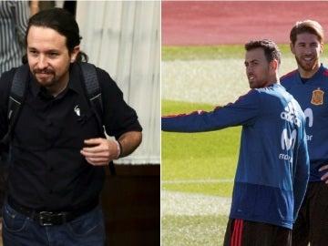 Pablo Iglesias y Sergio Ramos