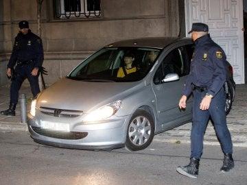 El coche que transportó a la presidenta del Parlament de Cataluña, Carme Forcadell