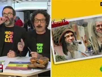 """Informe Mongolia: """"La solución a todos los problemas de España: porros gratis. No seremos los más productivos del mundo, pero lo que nos vamos a reír..."""""""