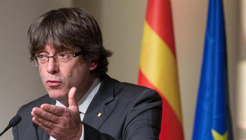 El expresidente de la Generalitat catalana, Carles Puigdemont