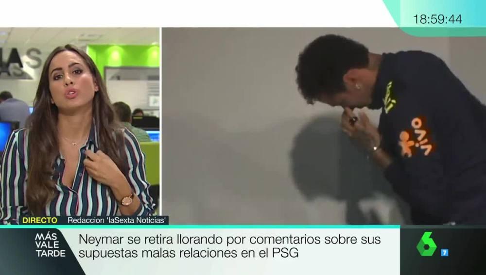 Neymar se retira llorando de la rueda de prensa