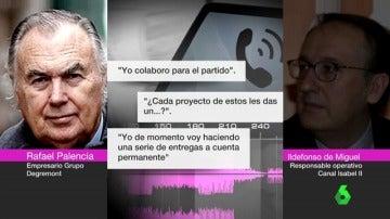 Conversación de Rafael Palencia e Ildefonso de Miguel