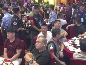 La banda mafiosa desmantelada en pleno banquete de boda en China