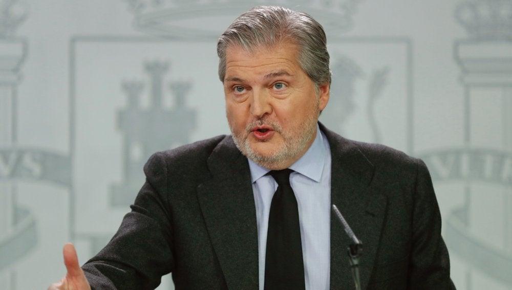 El ministro de Educación, Cultura y Deporte, y portavoz del Gobierno, Íñigo Méndez de Vigo