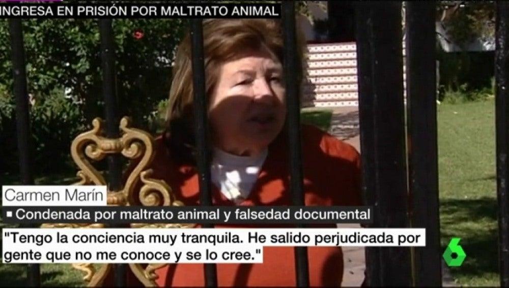 Carmen Martín, condenada por maltrato animal