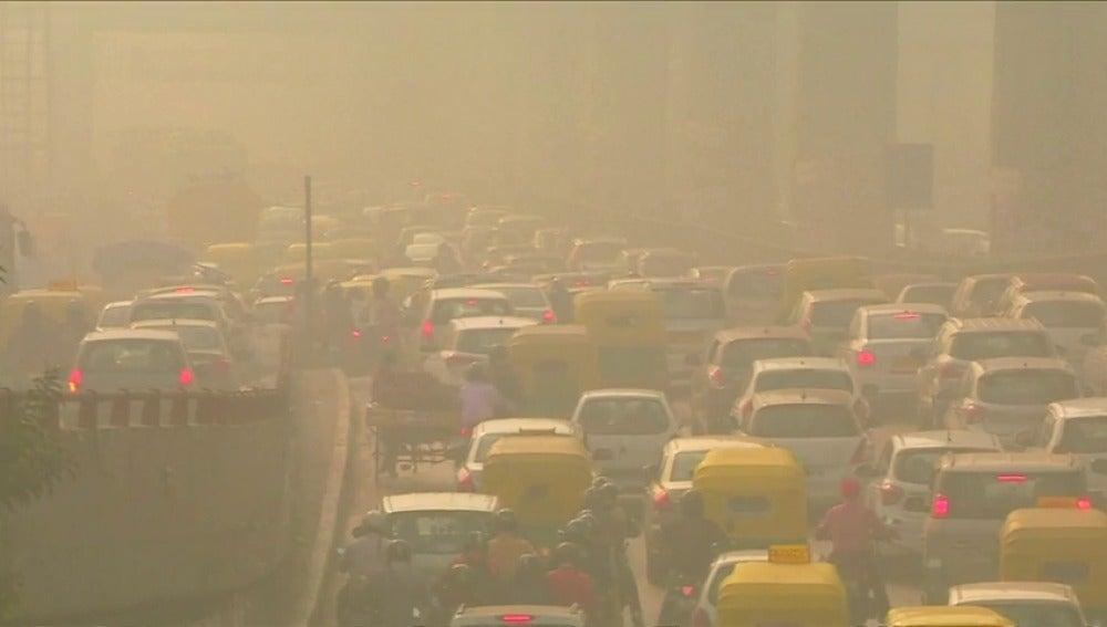 Niveles de polución extremos en Nueva Delhi
