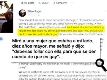 Ellen Page denuncia el acoso sexual que sufrió