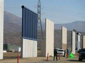 Prototipos del muro de EEUU y México