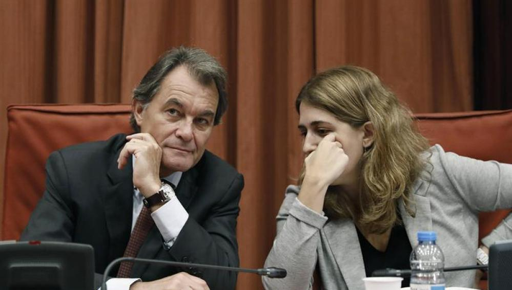 Artur Mas y Marta Pascal