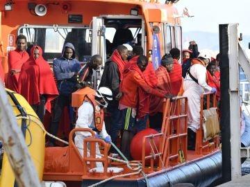 Salvamento Marítimo rescata cuatro pateras en Andalucía