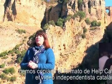 Los vecinos de Ronda versionan el vídeo 'Help Catalonia' para pedir una autovía