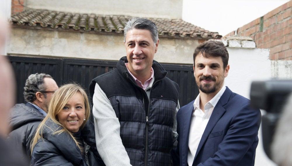 Xavier García Albiol en un acto para presentar a la cabeza de lista por Lleida el 21D, Marisa Xandri, junto a Dante Pérez