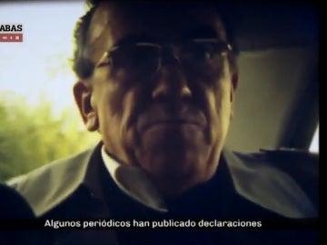 Santiago Carrillo en una entrevista clandestina a una televisión sueca en 1977