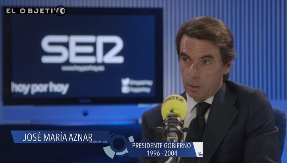 José María Aznar, durante una entrevista en la Cadena SER.