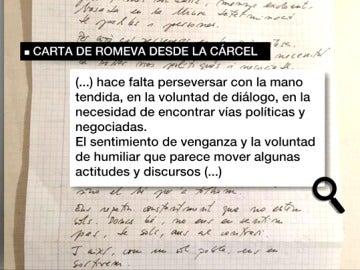 Carta de Romeva desde la cárcel