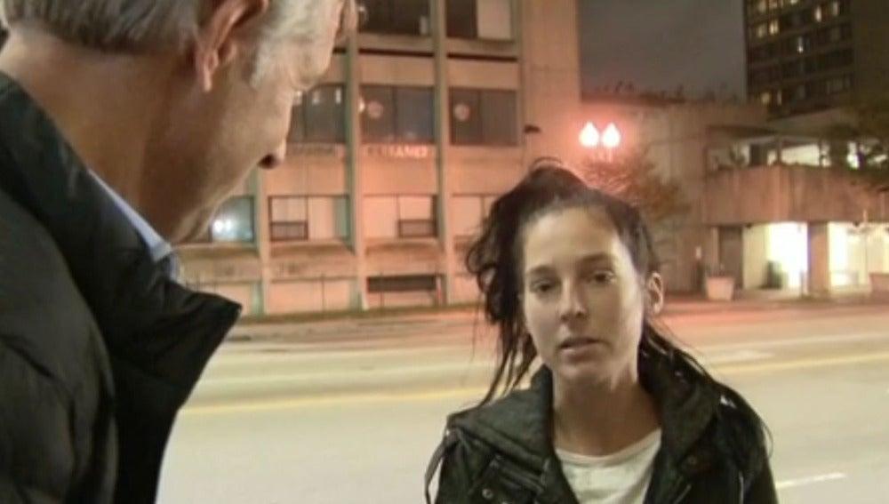 La joven encontrada durante la entrevista en Boston.