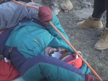 Gema Hassen-Bey, superando los 3.000 metros en el Teide
