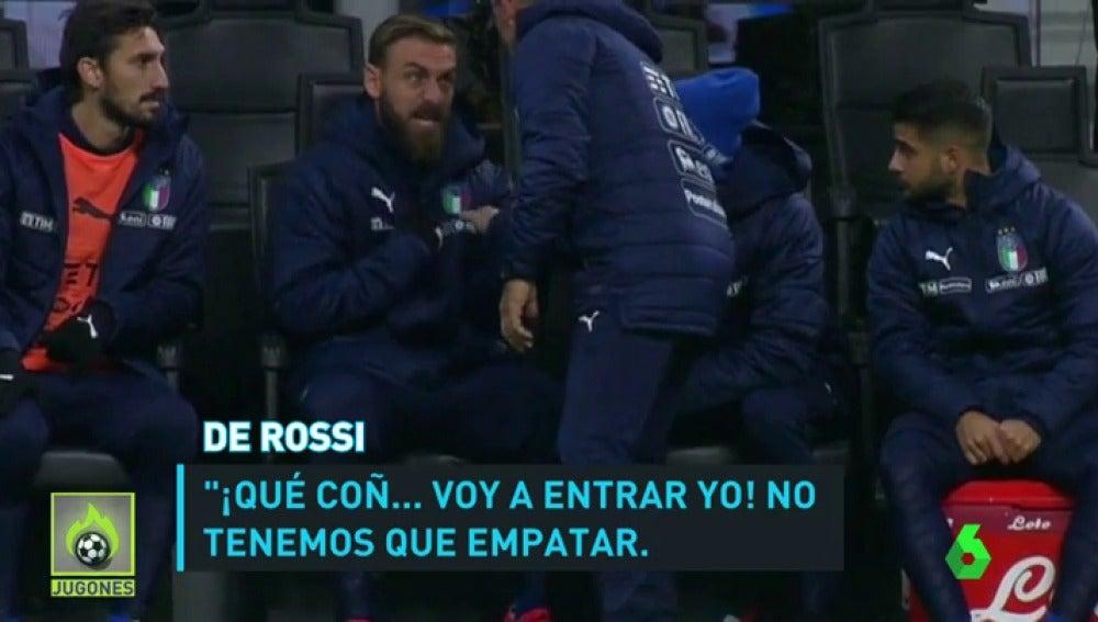 """De Rossi explotó en el banquillo: """"Que salga otro. Tenemos que ganar, no empatar"""""""