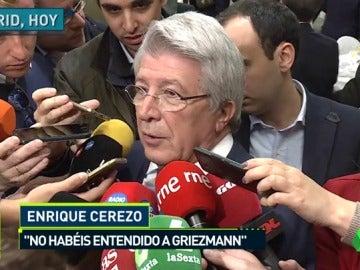 """Cerezo: """"En ninguna declaración de Griezmann he visto que se quiera marchar"""""""