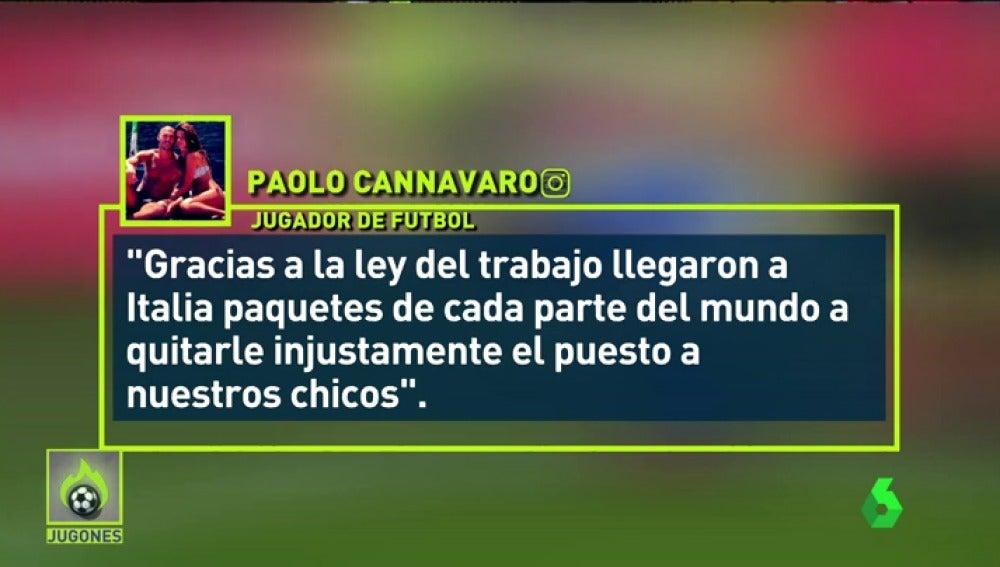 El mensaje racista del hermano de Cannavaro tras la debacle de Italia ante Suecia
