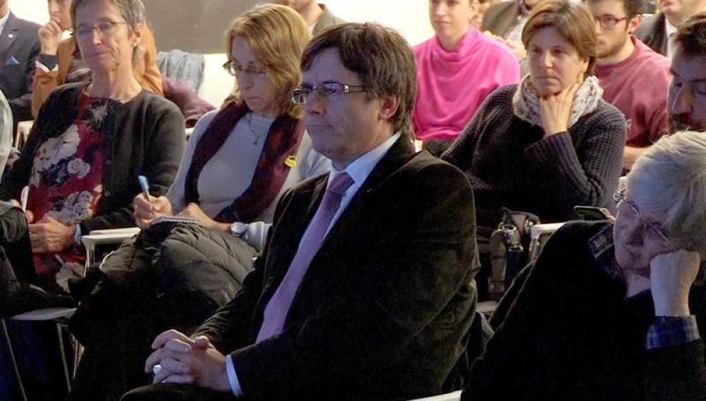 Imagen de televisión del expresidente de la Generalitat Carles Puigdemont