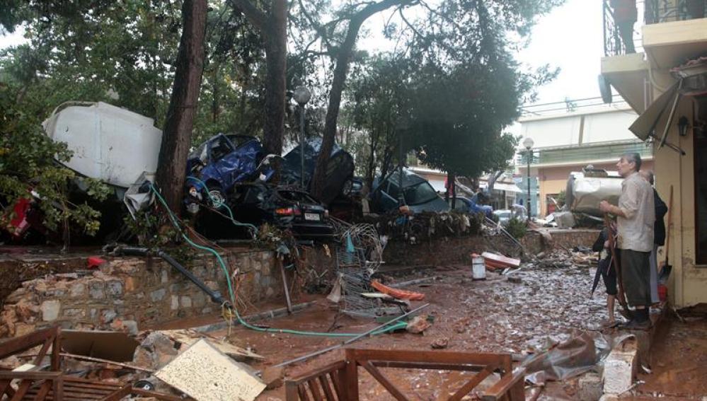 Lluvias torrenciales caídas al oeste de Atenas