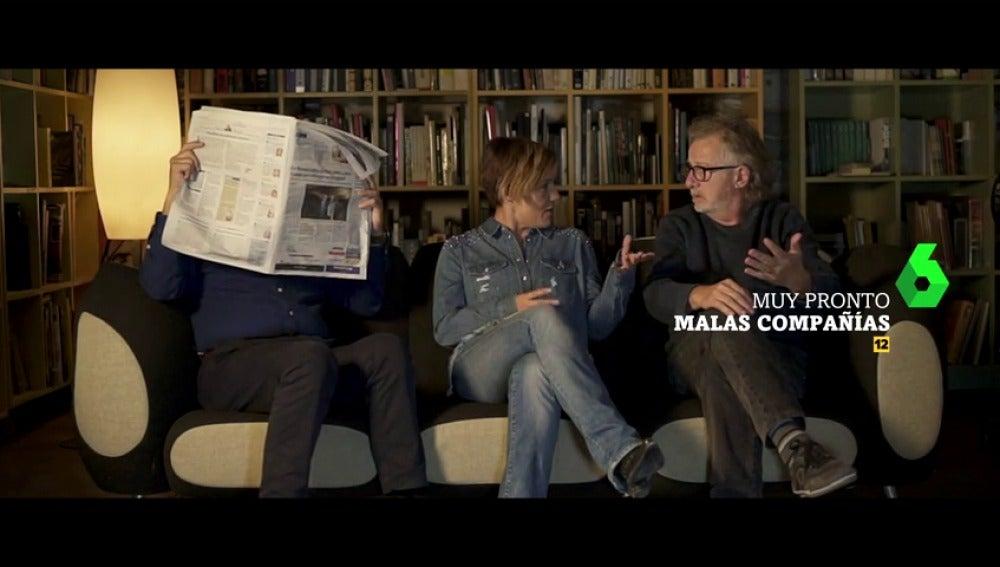"""""""¿Corrupción en Cataluña?"""": Xavier Sardà y Javier Mariscal visitan a Cristina Pardo en Malas Compañías"""