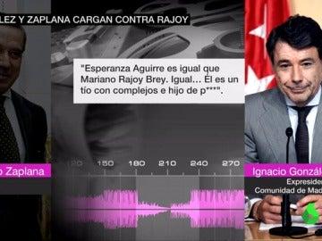 Las conversaciones de Ignacio González y Eduardo Zaplana cargando contra Rajoy