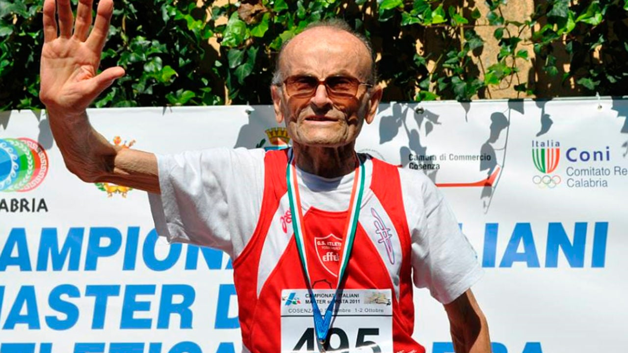 Giuseppe Ottaviani, el atleta de 101 años