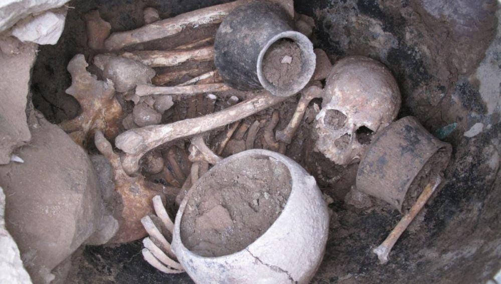Tumba de El Argar de la Edad de Bronce