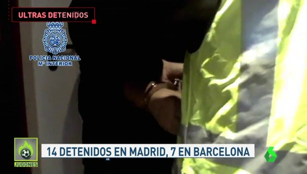 Más de 20 detenidos por la pelea entre ultras del 12 de octubre en Barcelona