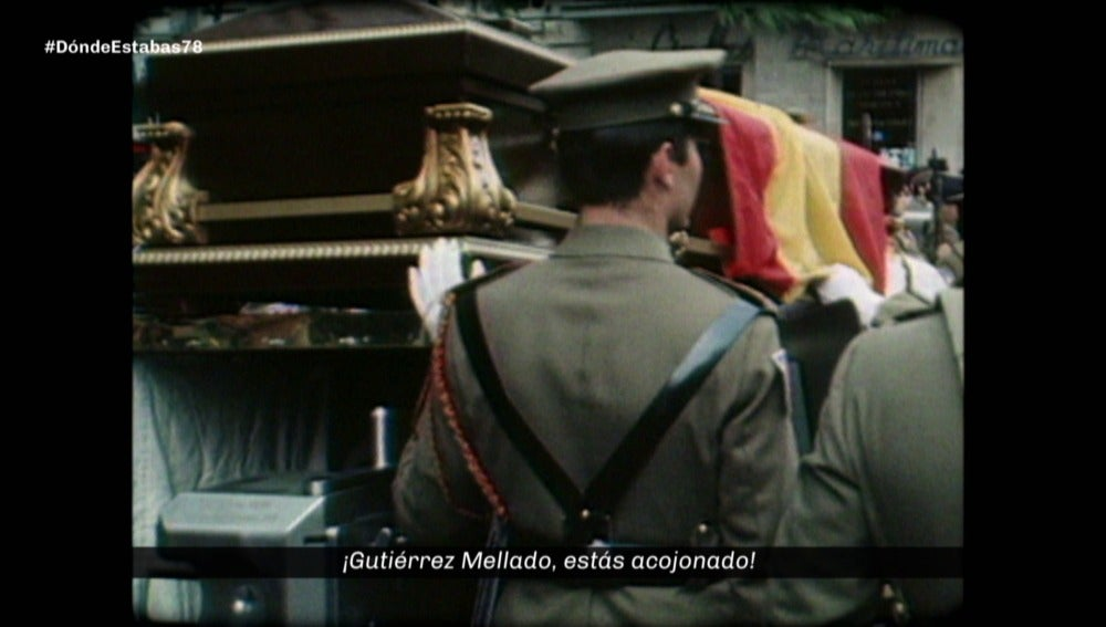 Imágenes contra Gutiérrez Mellado en 1978