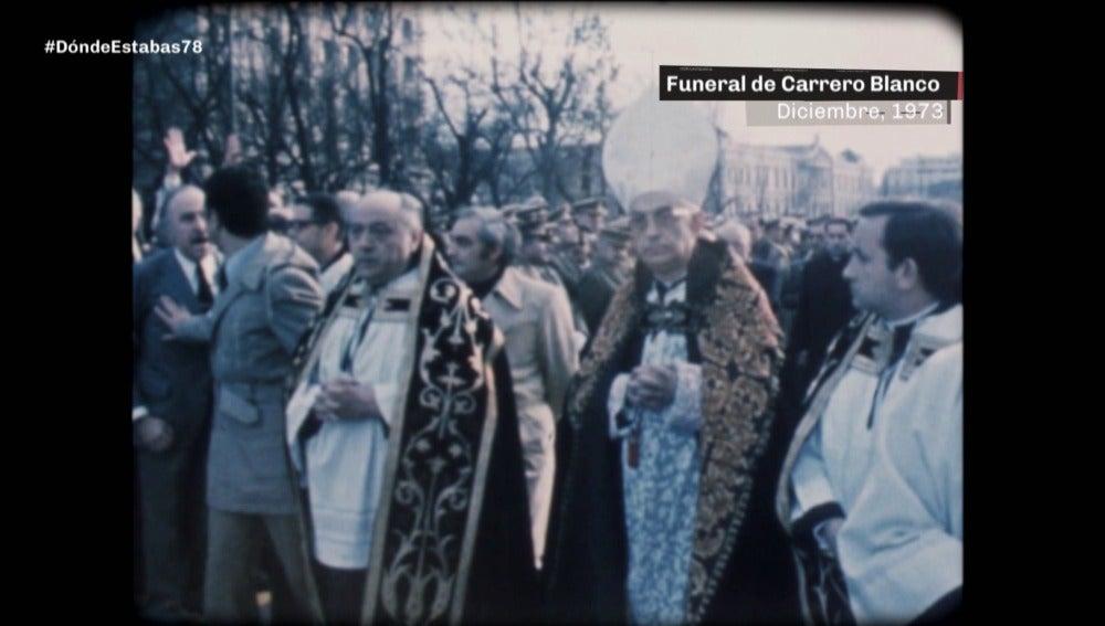 El cardenal Tarancón en el funeral por Carrero Blanco