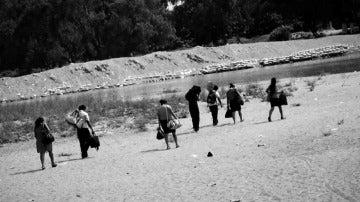 El paso de la frontera entre México y Guatemala