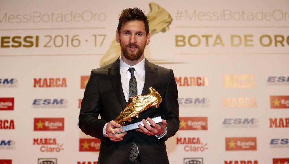 Leo Messi con la Bota de Oro