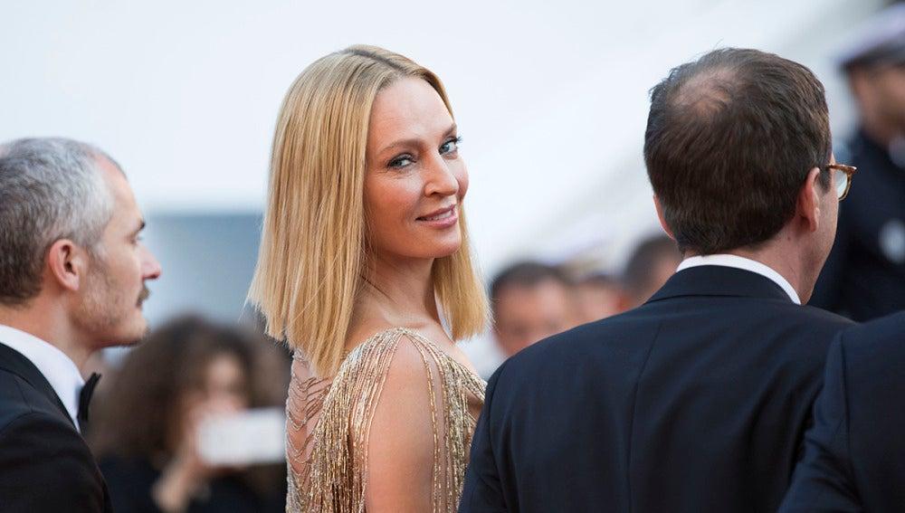 Uma Thurman en el Festival de Cannes