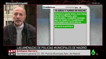 Emiliano Herrero, secretario general CCOO Policía Ayto. Madrid