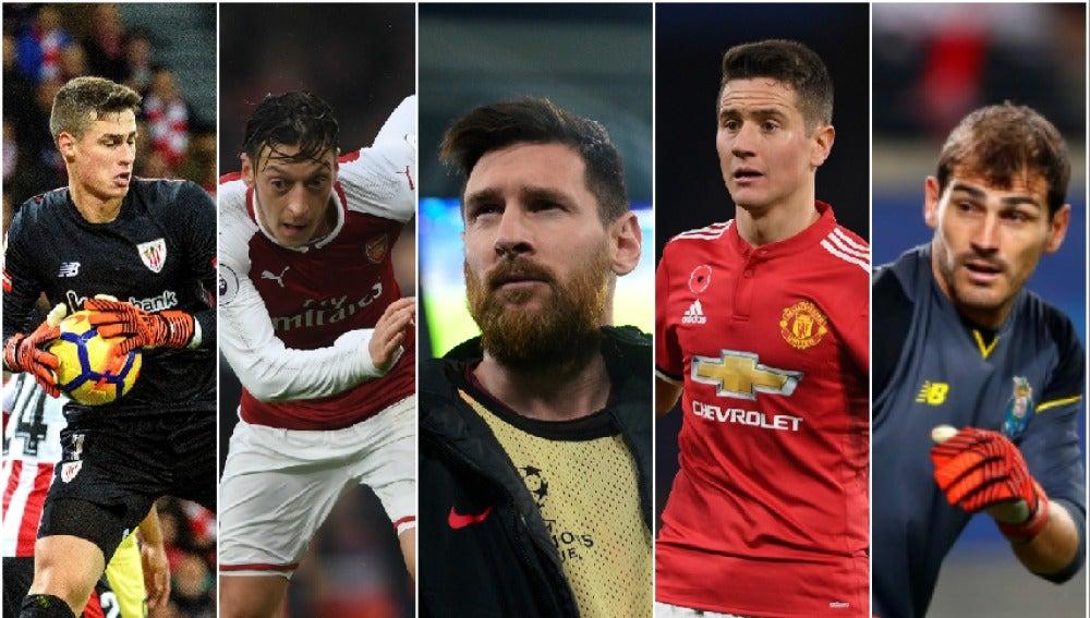 Los jugadores que se quedarán libres en enero