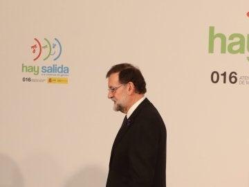 Mariano Rajoy durante su intervención en el acto institucional con motivo del Día internacional de la eliminación de la violencia contra la mujer