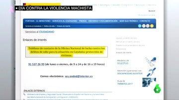 Una captura de la página web de Interior
